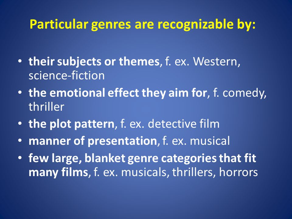 The role genres play in the cinema industry: affect industry officials decisions serve as a simple way to characterize film for publicity