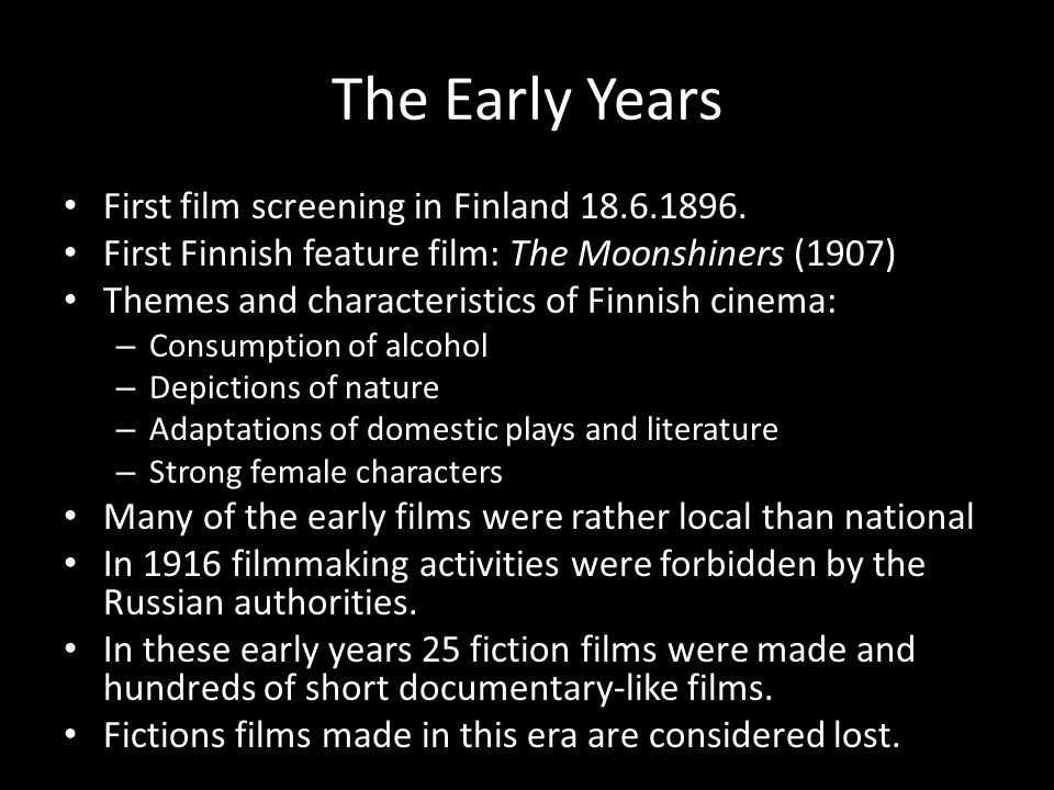 Changing values Finnish cinema faced a crisis in the late 1950s and it deepened in the 1960s.