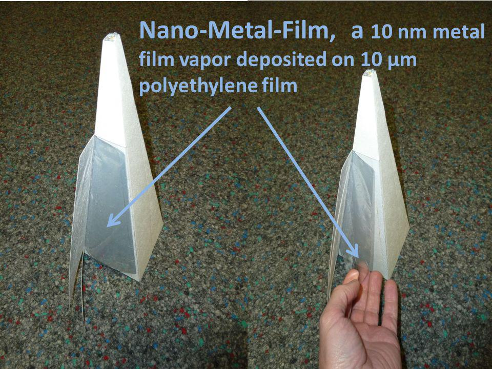 Nano-Metal-Film, a 10 nm metal film vapor deposited on 10 µm polyethylene film
