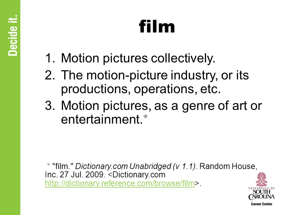 film 1.Motion pictures collectively.