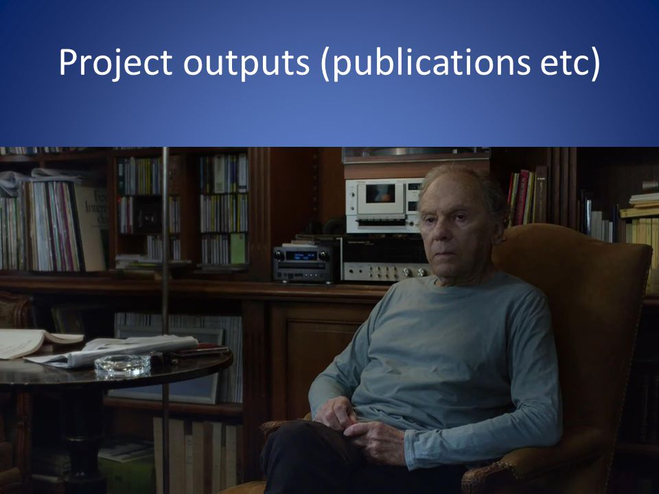 Project outputs (publications etc)