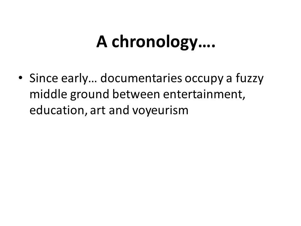 A chronology….