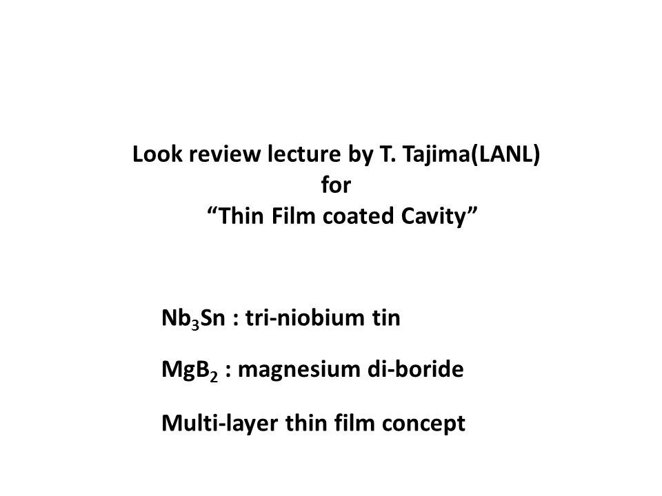 Look review lecture by T.