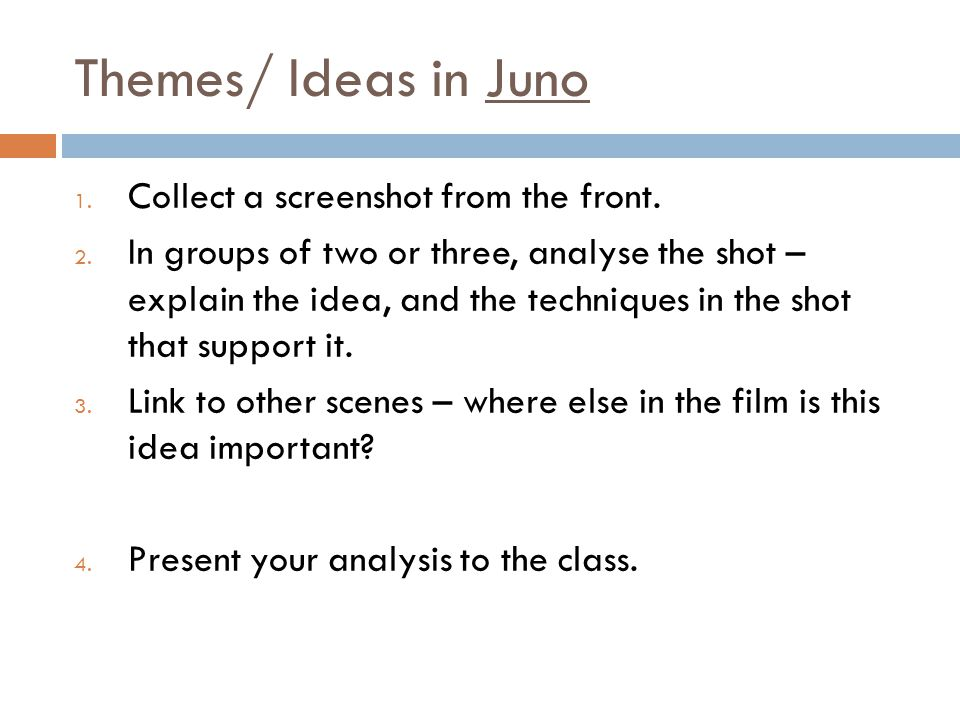 Themes/Ideas in Juno Using the template below, briefly describe relationships between Mark, Juno and Vanessa.