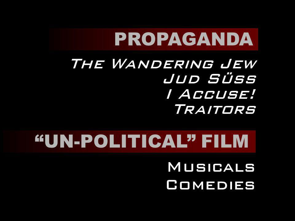 PROPAGANDA The Wandering Jew Jud Süss I Accuse! Traitors UN-POLITICAL FILM Musicals Comedies