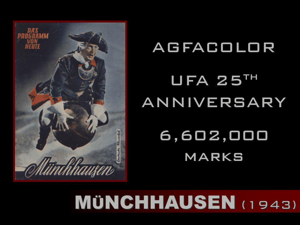 M Ü NCHHAUSEN (1943) AGFACOLOR UFA 25 th ANNIVERSARY 6,602,000 marks