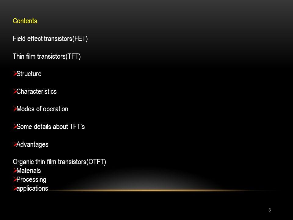OTFT technologys application is diverse.