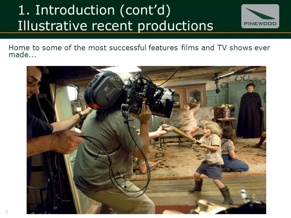 1. Introduction (contd) Illustrative recent productions 7 Home to some of the most successful features films and TV shows ever made...