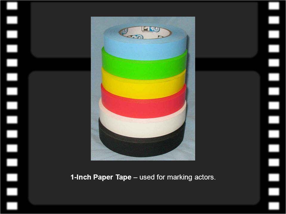 1-Inch Fluorescent Paper Tape – used for marking actors.