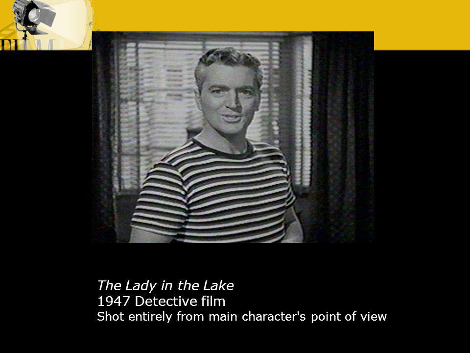 The Lady in the Lake 1947 Detective film Shot entirely from main character's point of view