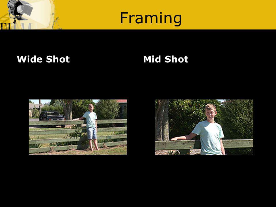 Framing Wide ShotMid Shot