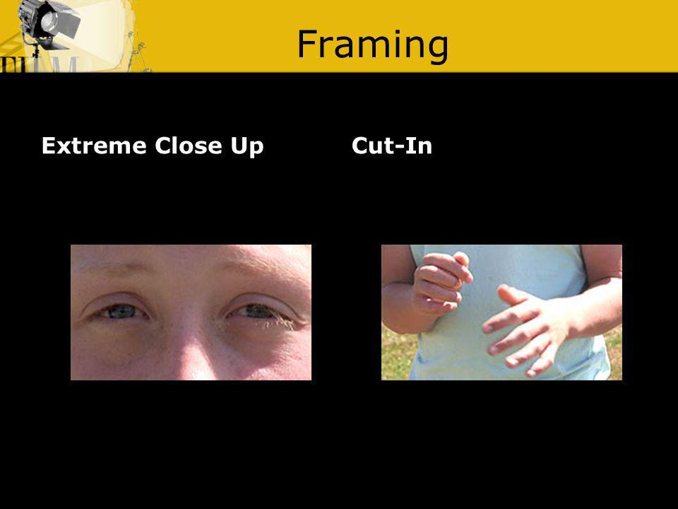 Framing Extreme Close UpCut-In
