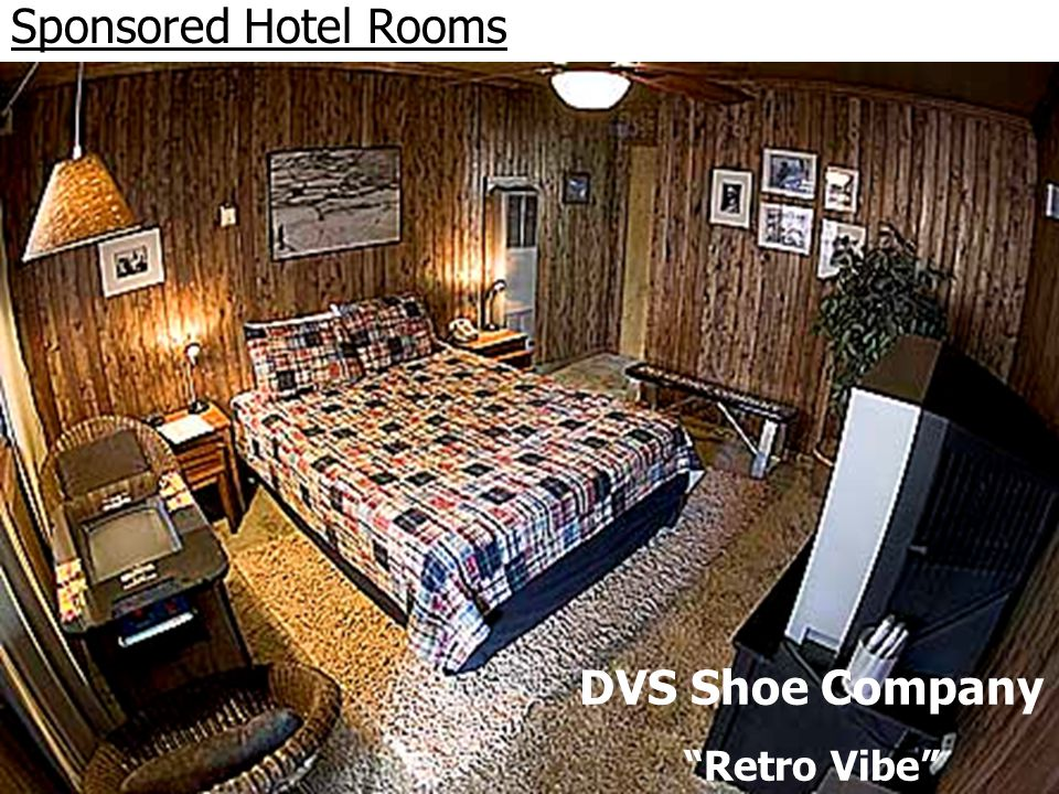 Sponsored Hotel Rooms DVS Shoe Company Retro Vibe