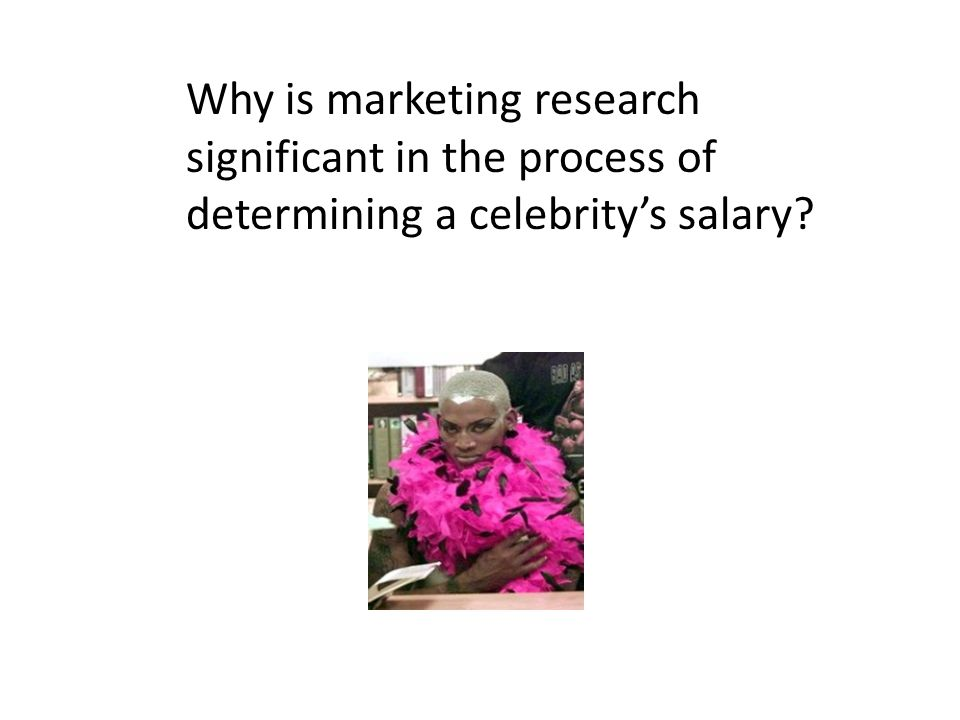 Why is marketing research significant in the process of determining a celebritys salary