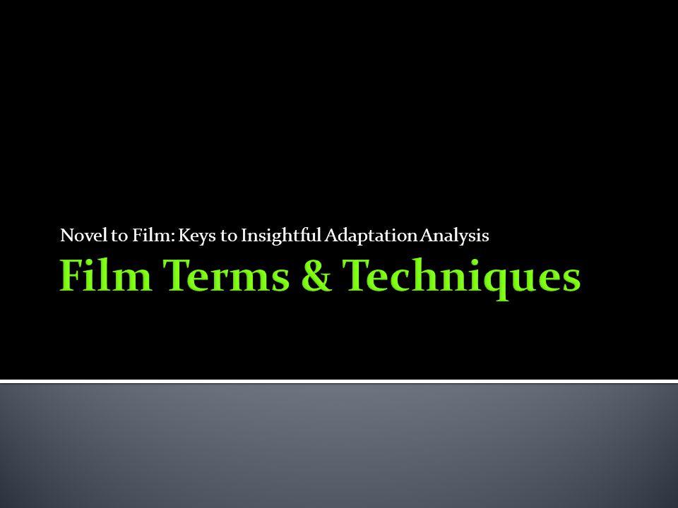 Novel to Film: Keys to Insightful Adaptation Analysis