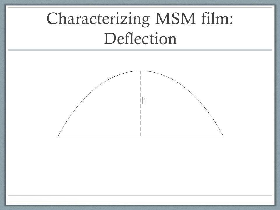 Characterizing MSM film: Deflection