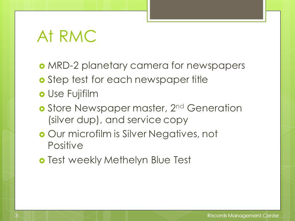 Microfilm Procedures 1.Step test 2. Microfilm 3. Process 4.
