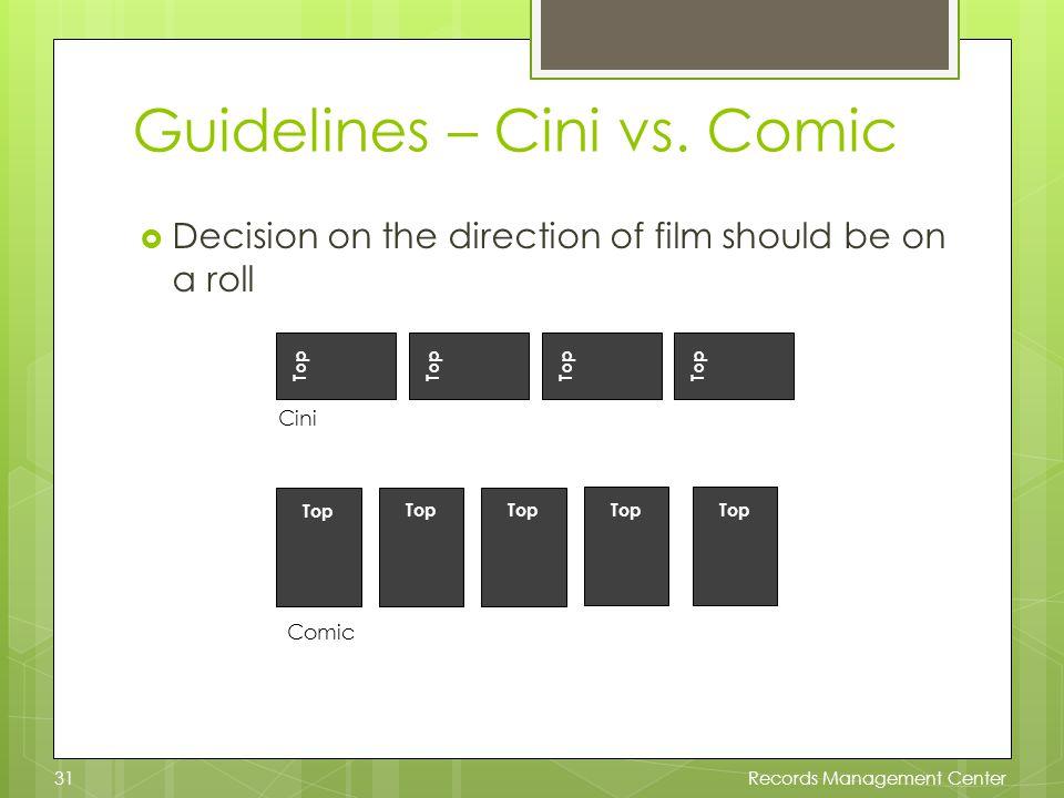 Guidelines – Cini vs.