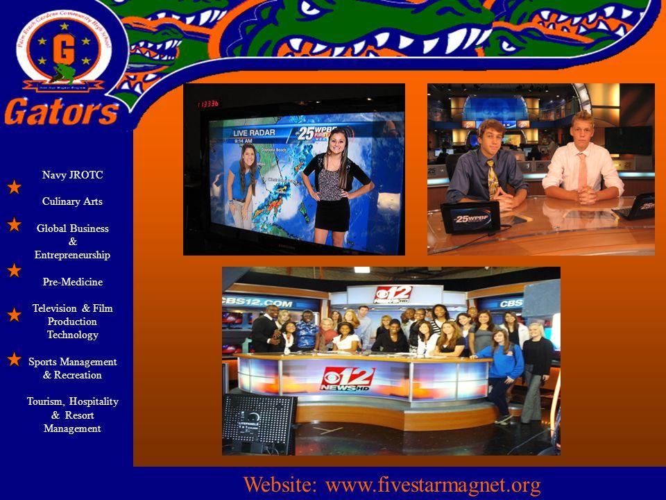 Navy JROTC Culinary Arts Global Business & Entrepreneurship Pre-Medicine Television & Film Production Technology Sports Management & Recreation Touris
