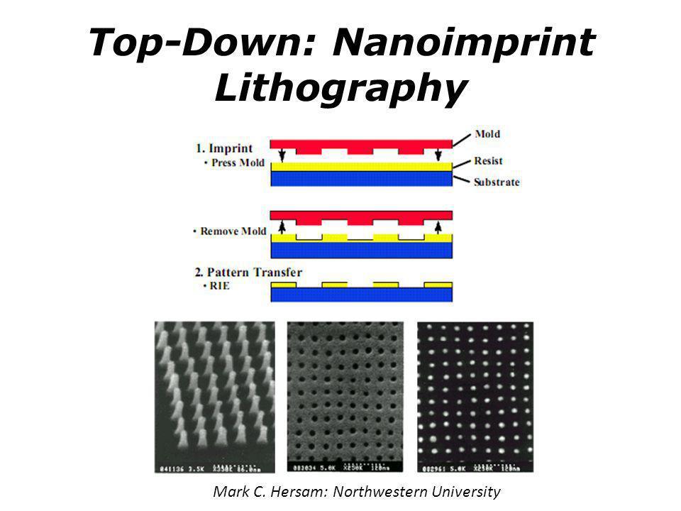 Top-Down: Nanoimprint Lithography Mark C. Hersam: Northwestern University