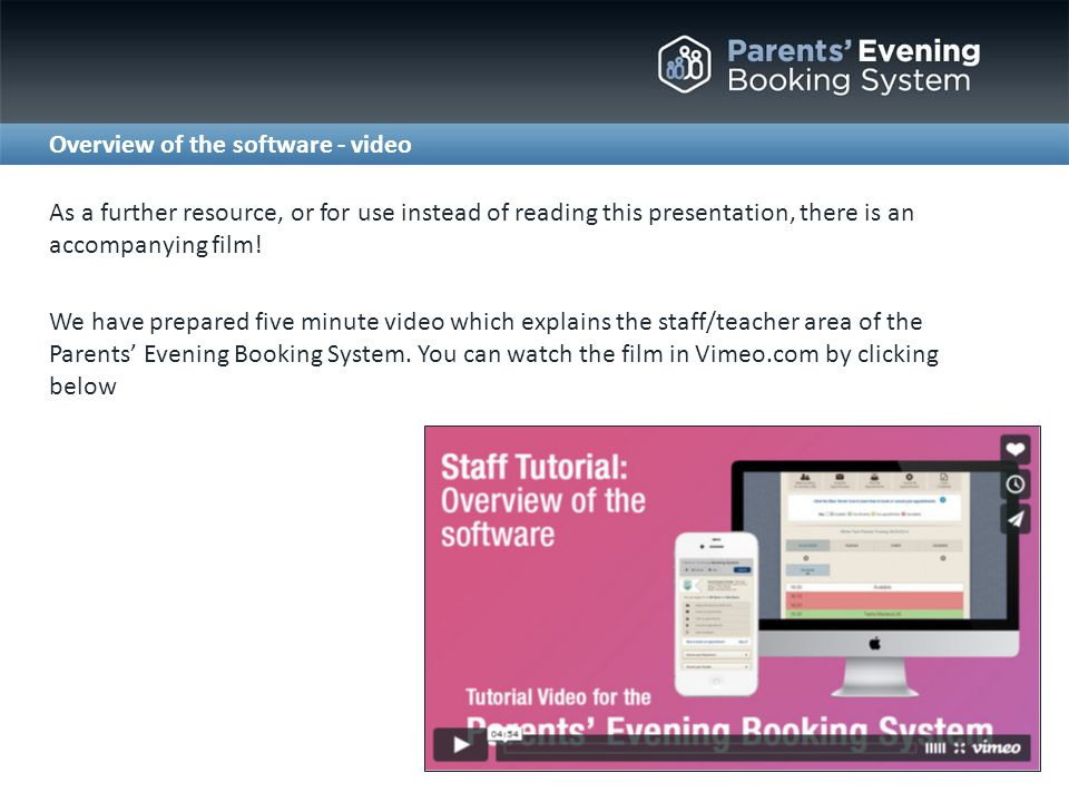 Either: 1.Go to www.parents-booking.co.uk 2.
