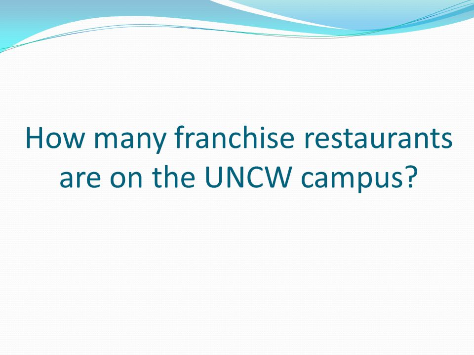 How many franchise restaurants are on the UNCW campus