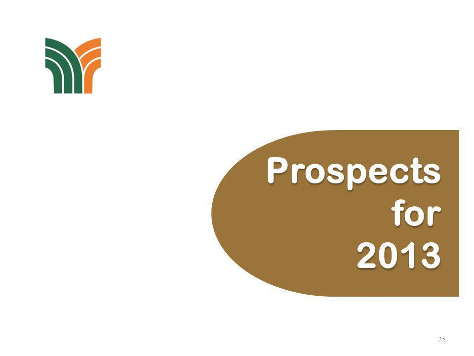 25 Prospects for 2013 Prospects for 2013