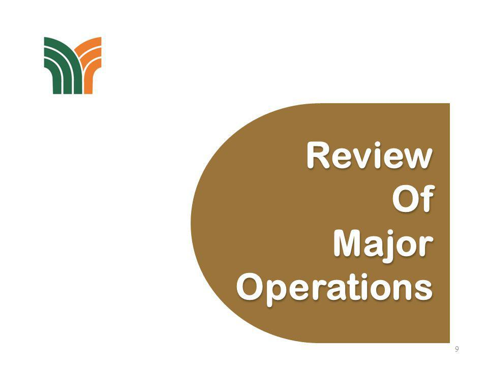9 Review Of Major Operations Review Of Major Operations