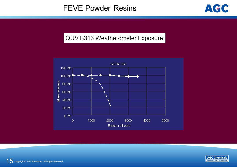 FEVE Powder Resins 15 QUV B313 Weatherometer Exposure