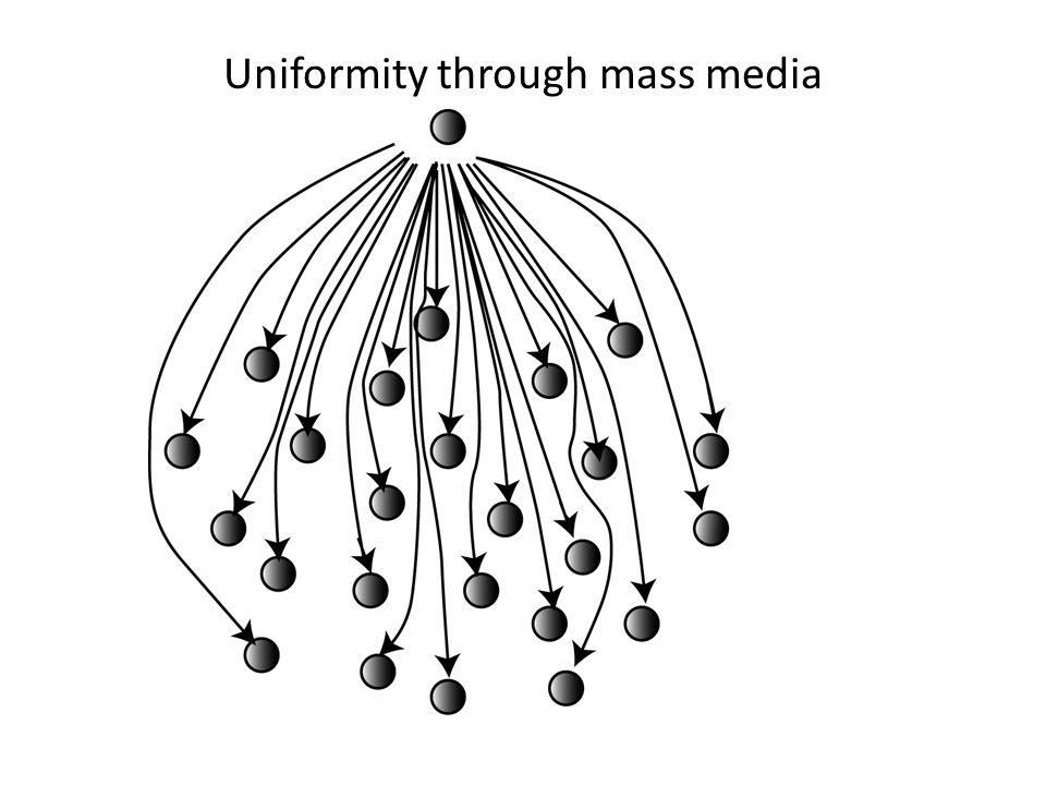 Uniformity through mass media