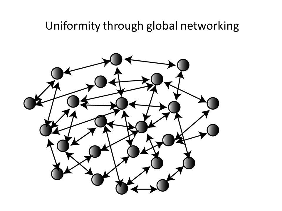 Uniformity through networking Uniformity through global networking