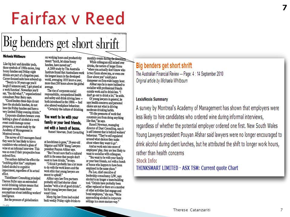 Fairfax v Reed 7 7Therese Catanzariti