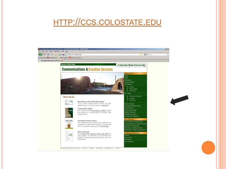 HTTP :// CCS. COLOSTATE. EDU