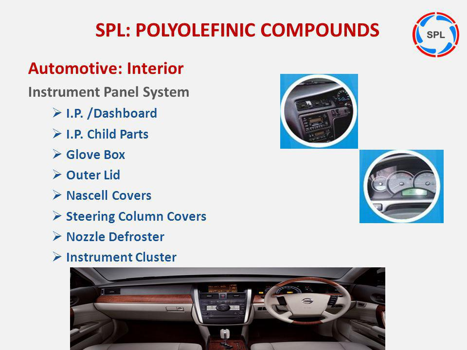 Automotive: Interior Instrument Panel System I.P. /Dashboard I.P. Child Parts Glove Box Outer Lid Nascell Covers Steering Column Covers Nozzle Defrost