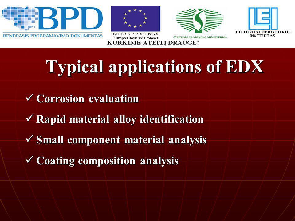 Corrosion evaluation Corrosion evaluation Rapid material alloy identification Rapid material alloy identification Small component material analysis Sm