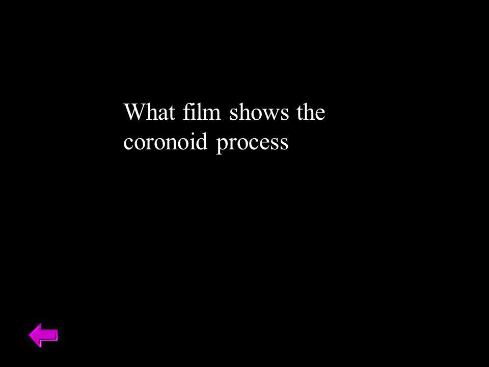 What film shows the coronoid process