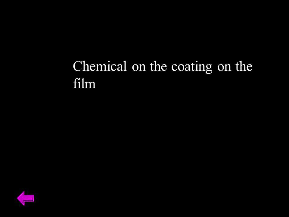 Chemical on the coating on the film