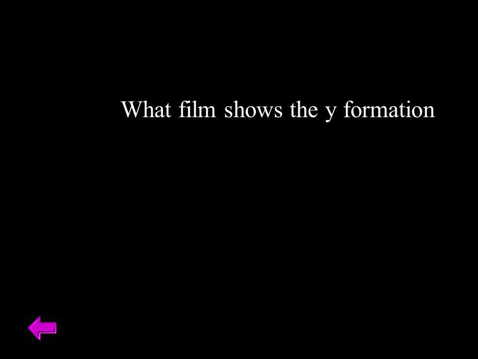 What film shows the y formation
