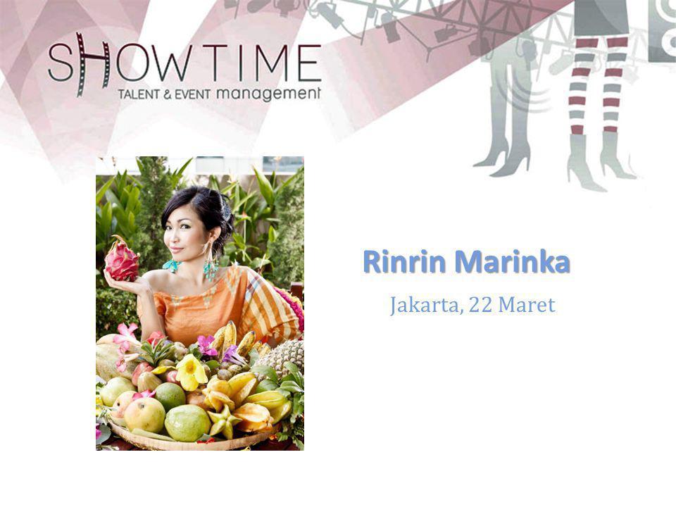 Jakarta, 22 Maret Rinrin Marinka