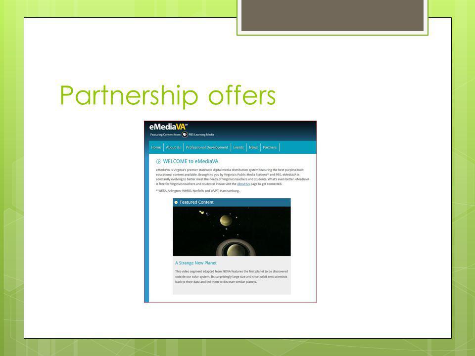 Partnership offers