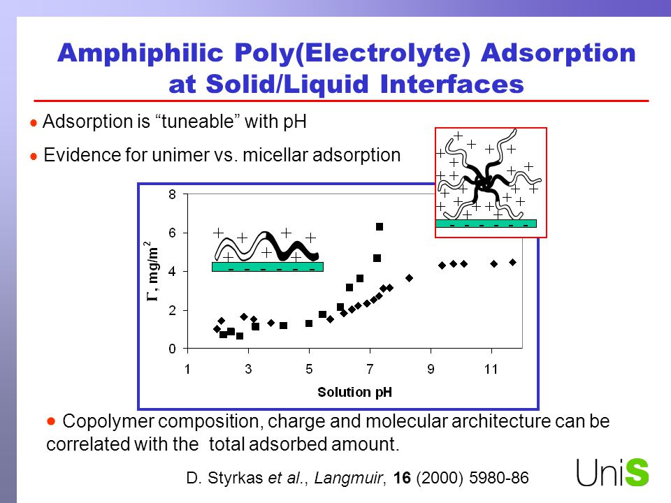 Amphiphilic Poly(Electrolyte) Adsorption at Solid/Liquid Interfaces D.
