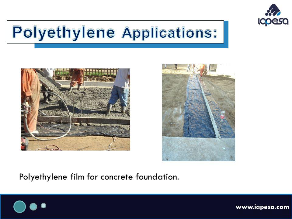 www.iapesa.com Polyethylene film for concrete foundation.