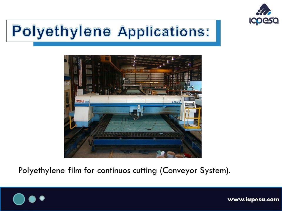 www.iapesa.com Polyethylene film for continuos cutting (Conveyor System).