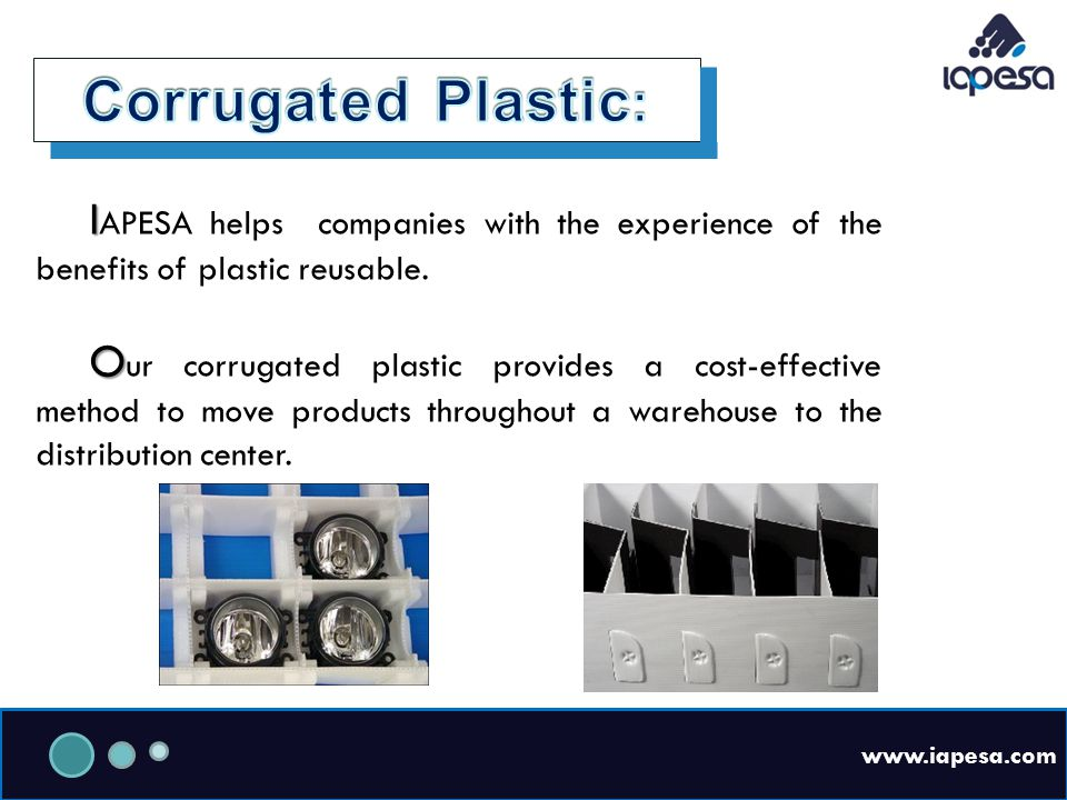 www.iapesa.com I I APESA helps companies with the experience of the benefits of plastic reusable.