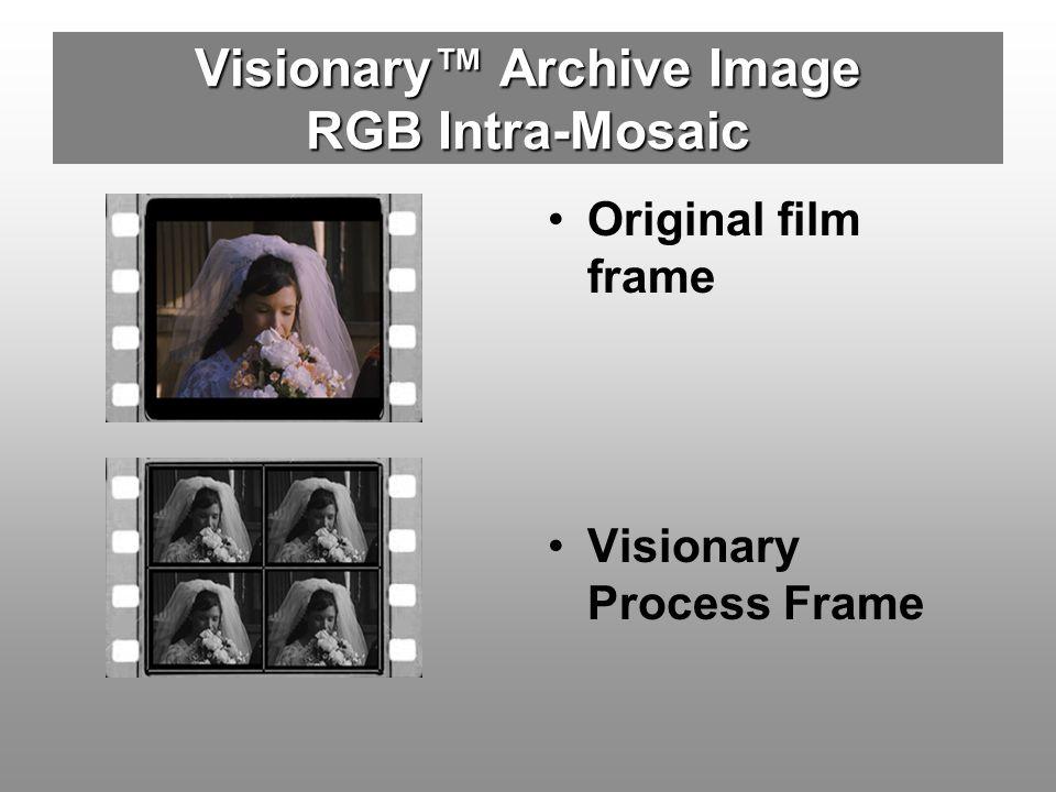Visionary Archive Image RGB Intra-Mosaic Original film frame Visionary Process Frame