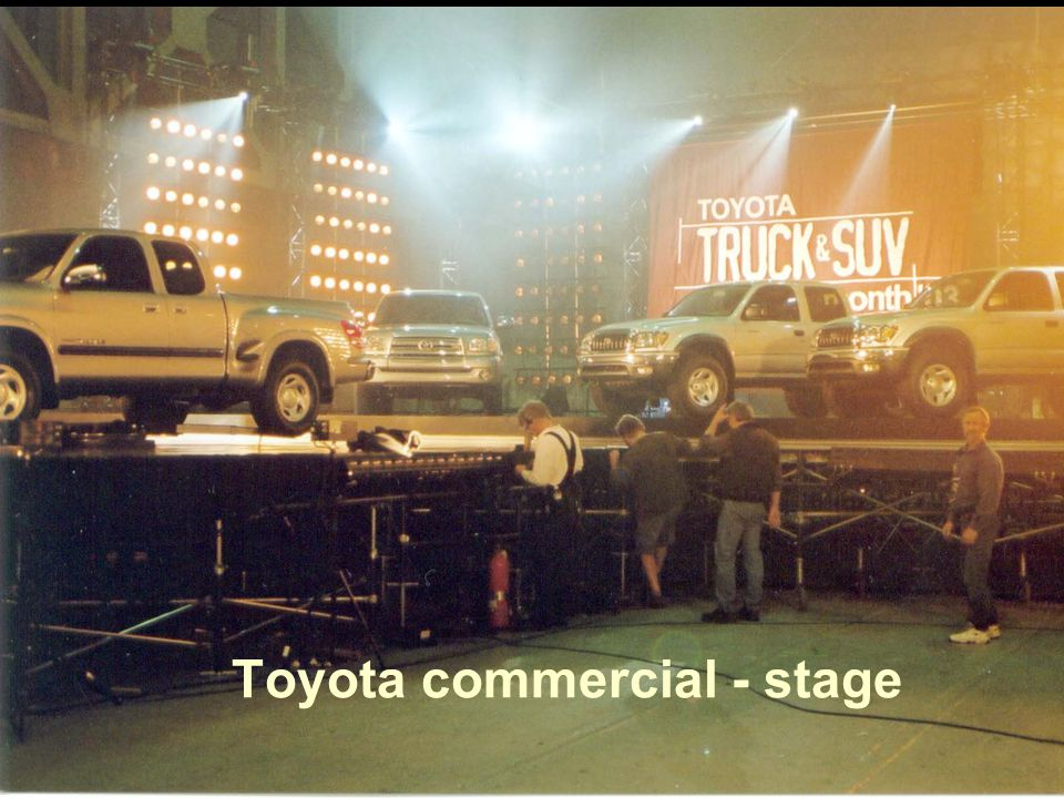 8 Toyota commercial - stage