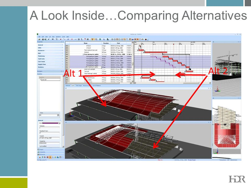 A Look Inside…Comparing Alternatives Alt 1 Alt 2