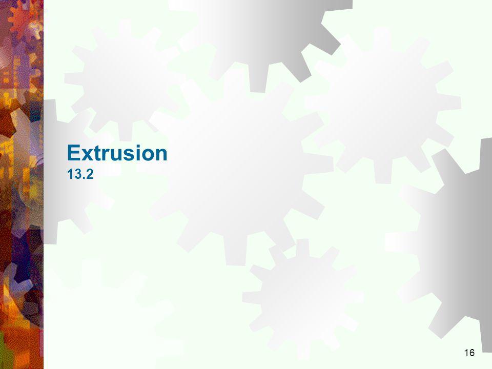 16 Extrusion 13.2