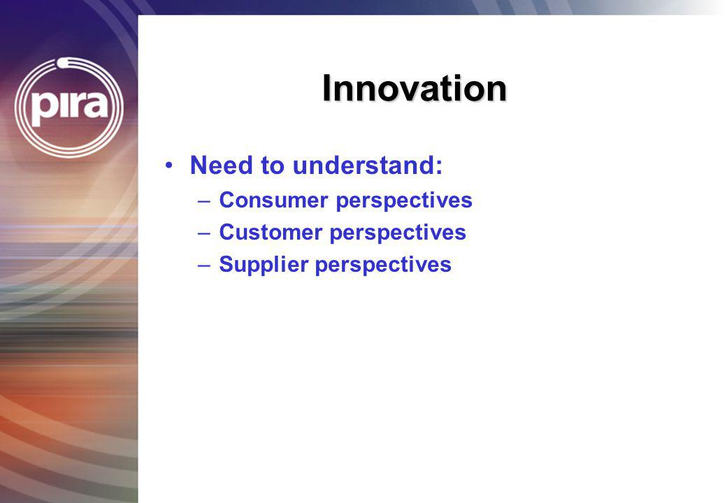 Innovation 1995 Quality Cost/price Service Customer focus Investment Delivery Flexibility Technology Account Management NPD 2001 Quality Cost/price Service Innovation Partnership Supply chain Flexibility Technology Account Management NPD