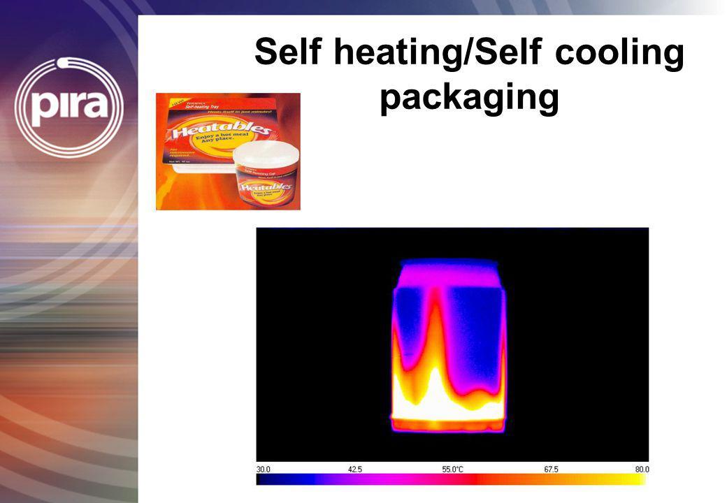 Self heating/Self cooling packaging